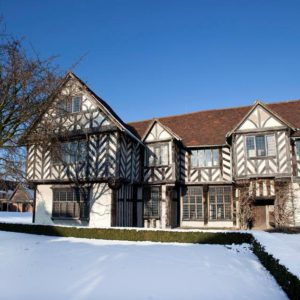 Blakesley Hall Snow Christmas