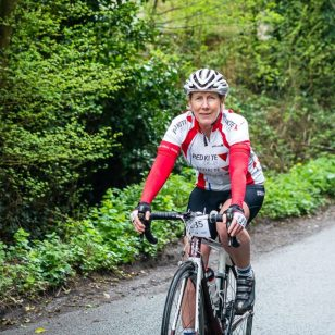 One lady gets pedalling for hospice care at Ride the Reservoir photo by Aaron Scott Richards