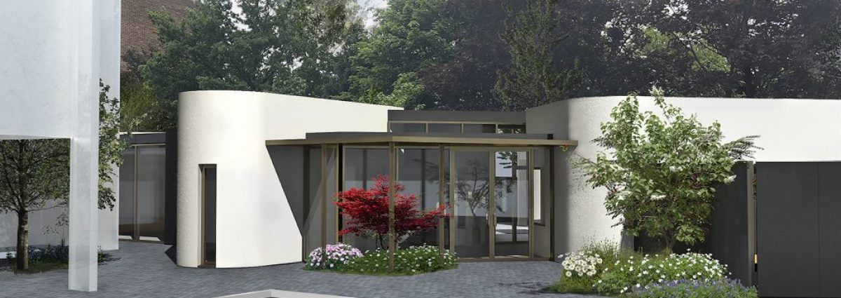 Artist Impression of the entrance of Woodland House at Birmingham Women's Hospital