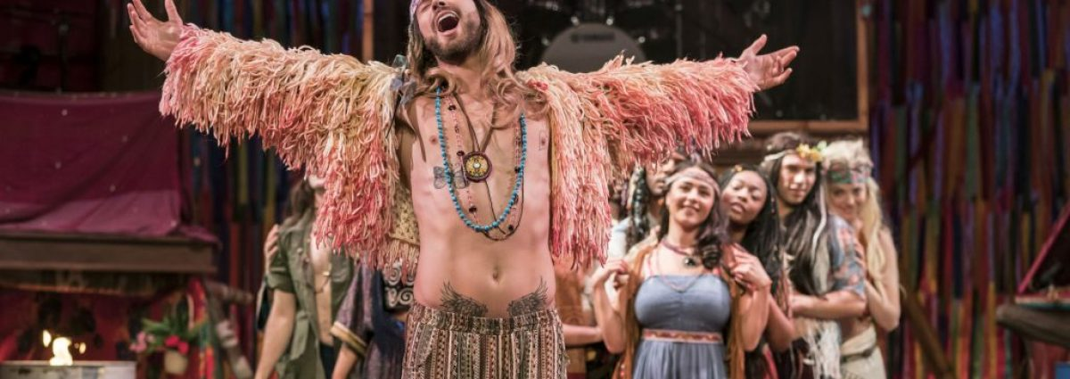 Jake Quickenden (Berger) & The Cast of Hair The Musical Photos By Johan Persson