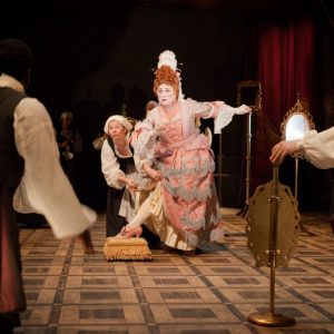 Caroline Quentin (Lady Fancyfull) and company photo by Peter Le May