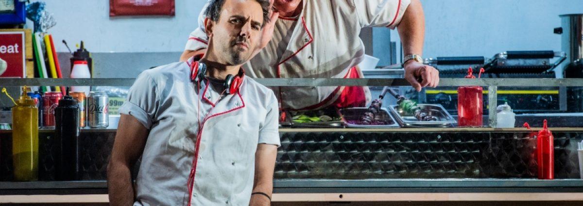 WNO Don Pasquale Nico Darmanin (Ernesto) Andrew Shore (Don Pasquale) Photo by Robert Workman