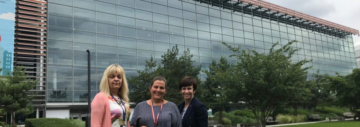Vanessa Currie (Head of People, Learning and Development at Millennium Point), Helen Miles (Corporate Fundraising Manager at Birmingham Women's Hospital Charity) and Abbie Vlahakis