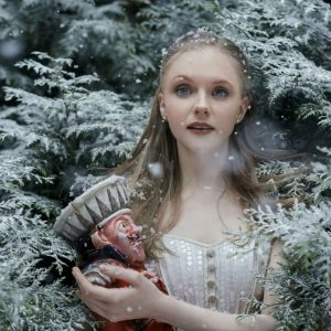 Karla Doorbar as Clara in The Nutcracker photo by Bella Kotak