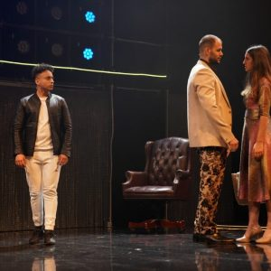 Robby Khela (Amar), Christoph Dorocant (Cyrus) and Sophie Kandola (Amor) - photo by Hitz Rao