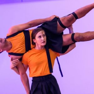 Dance Hub Birmingham launch. Johnny Autin & Laura Vanhulle perform. Photograph Simon Hadley.