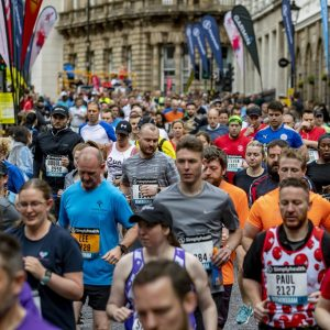 The Great Birmingham 10k passing through the city centre in 2019