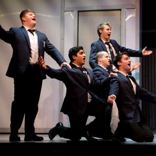 Dominic Treacy, Arun Bassi, Joe Wiltshire Smith, James Schofield and Thomas Grant in The History Boys - Photo by Tim Thursfield/Express and Star