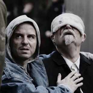 Andrew Scott and Jim Broadbent in King Lear (2018)
