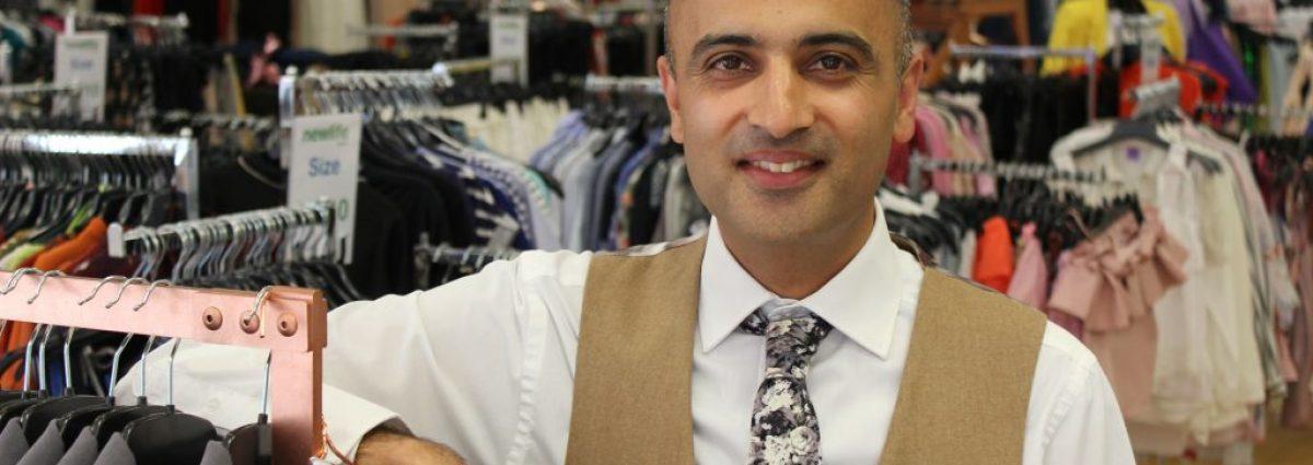 Harjinder Samra, Deputy Commercial Director at Newlife, in the Yardley store