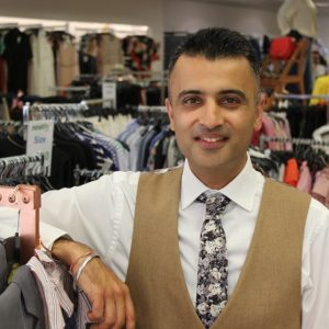 Harjinder Samra, Deputy Commercial Director at Newlife, in the Yardley store