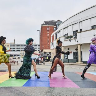 Drag queens cross with pride in Birmingham's Southside District