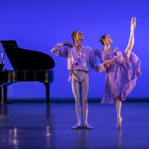 Tyrone Singleton and Samara Downs as Lilac Couple in Our Waltzes Photo by Johan Persson