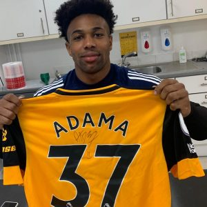 Adama Traore with his shirt