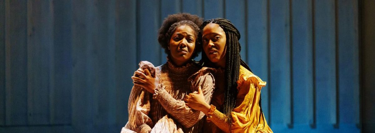 The Color Purple T'Shan Williams (Celie) and Danielle Fiamanya (Nettie) Photo by Manuel Harlan
