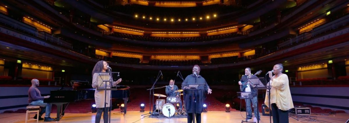 Gospel Ensemble filming at Symphony Hall March 2021