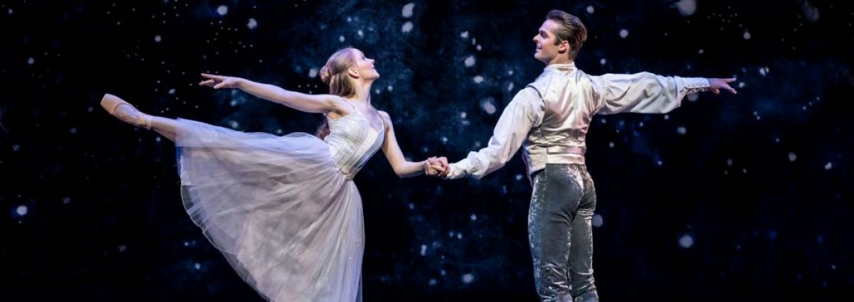Karla Doorbar as Cinderella and Lachlan Monaghan as The Prince - Photo by Johan Persson