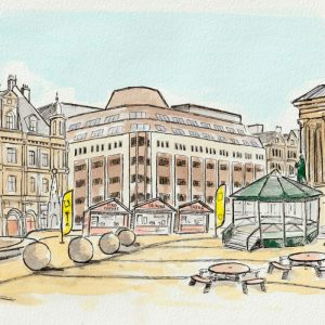 Summer in the Square artwork by Stacey Barnfield