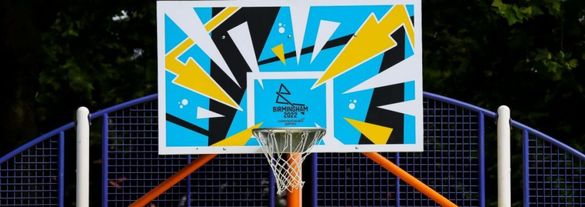 Community basketball court revamped in Summerfield Park to launch Birmingham 2022 West Midlands ticket ballot