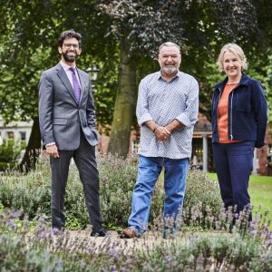 Dr Davinder Dosanjh, Andy Bright and Dr Alison Cook