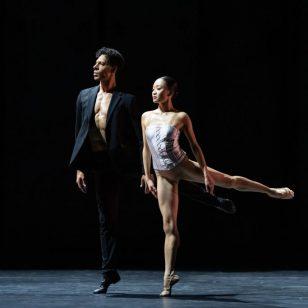 Tyrone Singleton as Romeo and Yaoqian Shang as Juliet photo by Bill Cooper